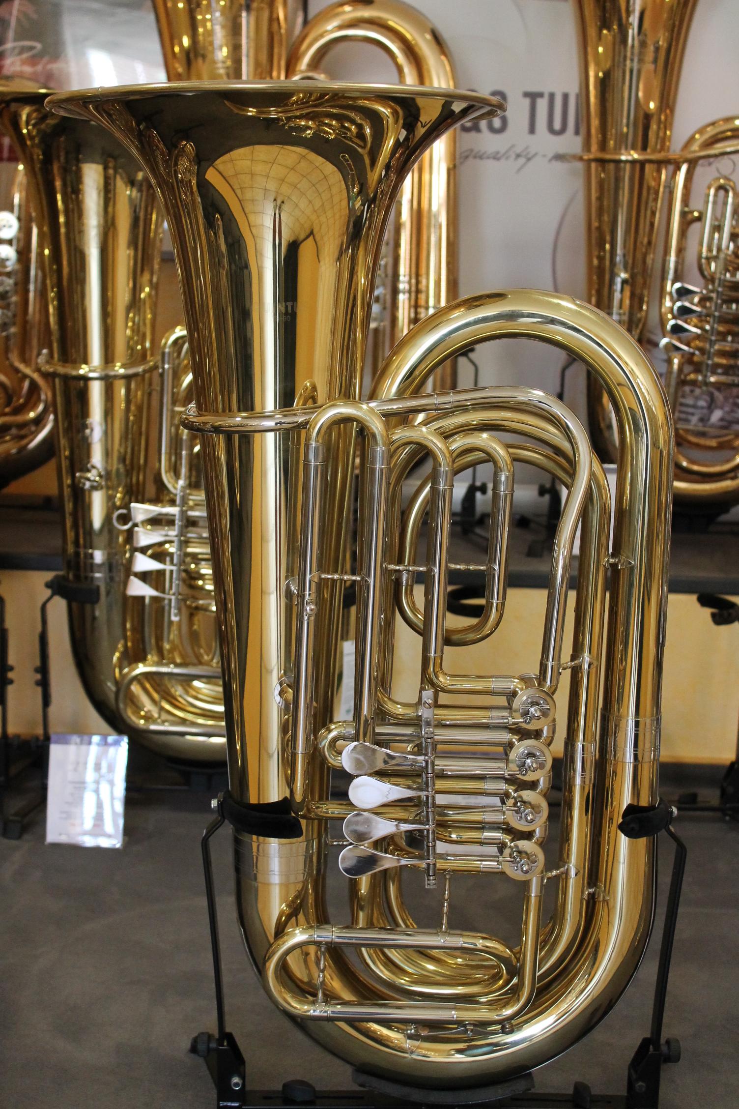 Professioneller Verkauf Bb Kaiserbariton Bariton Silber Euphonium Drehventile Versilbert Musikinstrumente