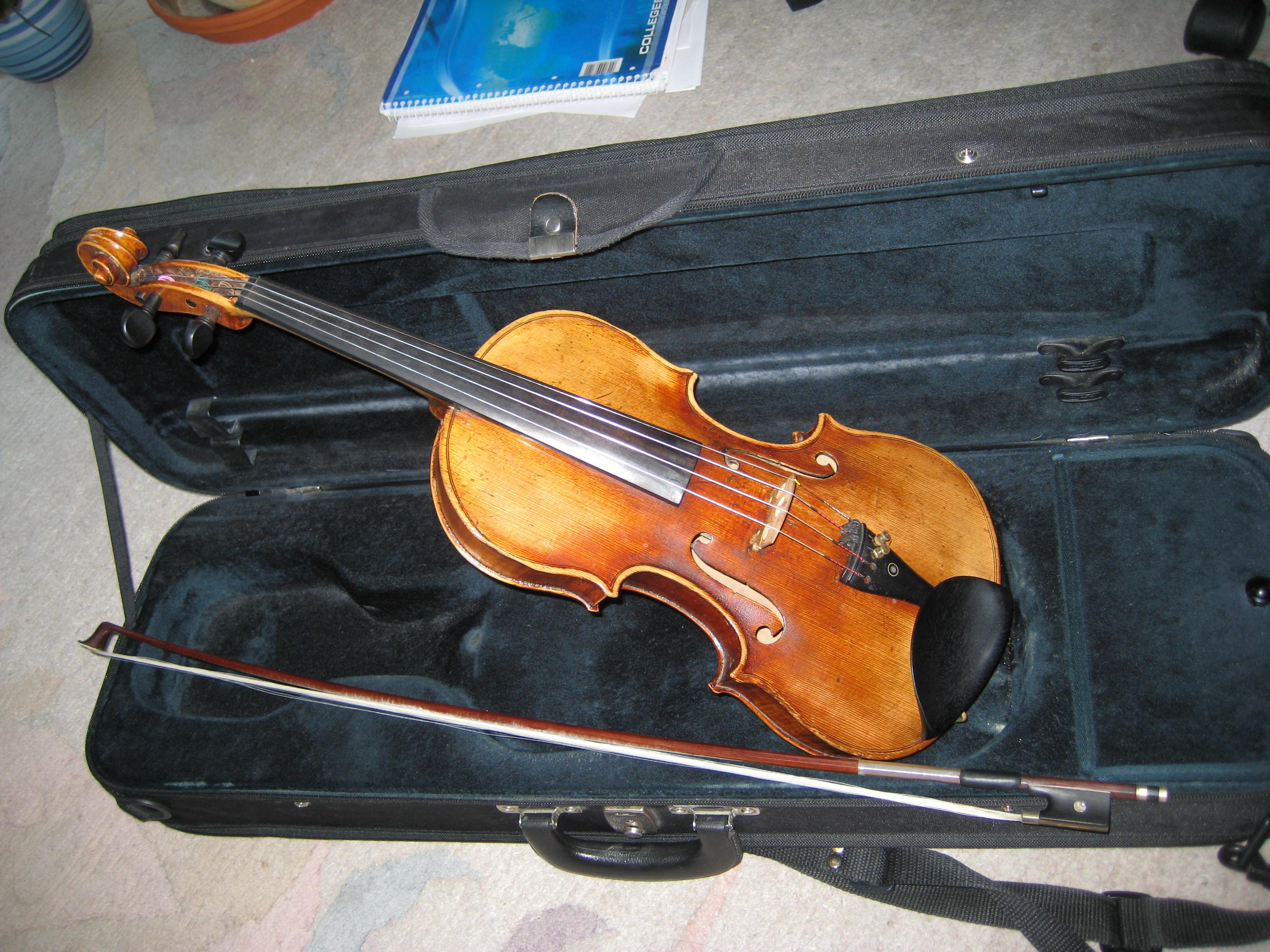 Schöne 4 4 Geige 19 Jh